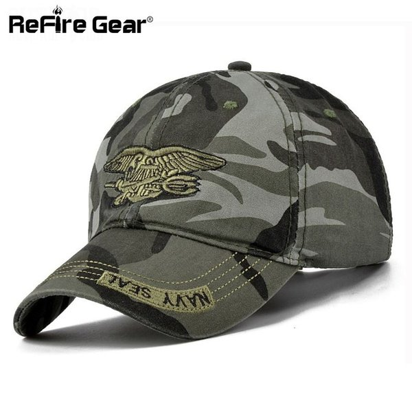 Navy Seal Summer Casual Camouflage Baseball Cap Men Adjustable Army Tactical Hats Fashion Cotton Camo Travel Caps Unisex 55-59 q170662