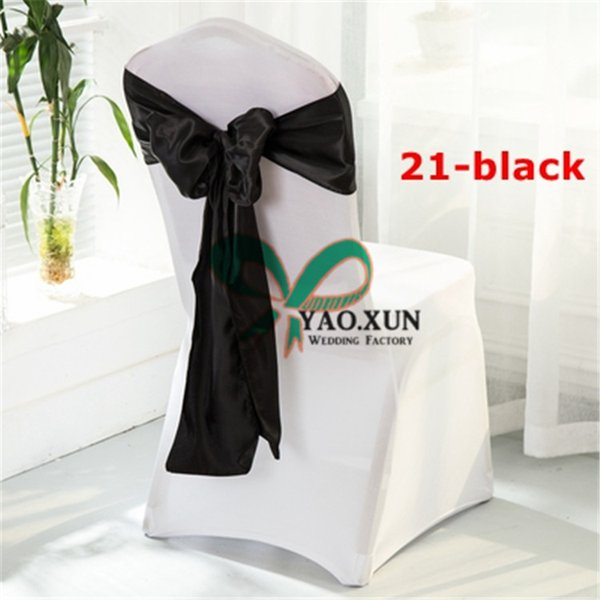 Free Shipping Lycra Spandex Chair Cover With Black Color Satin Chair Sash