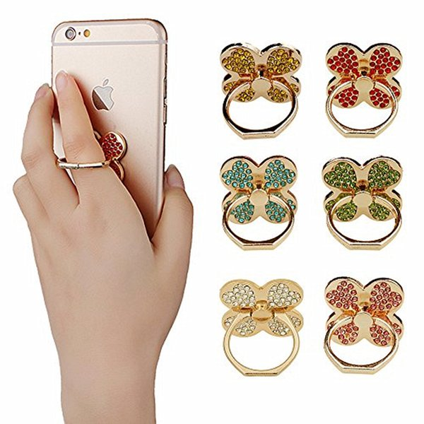 For iPhone 8 7 6 Fashion Universal Mobile Phone Ring Stent Cell Phone Ring Holder Finger Grip for Car Using Phone Stand