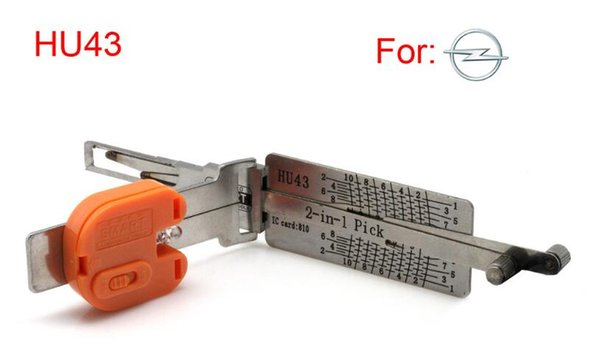 Smart HU43 2 in 1 auto pick and decoder for Opel auto pick tools for locksmith