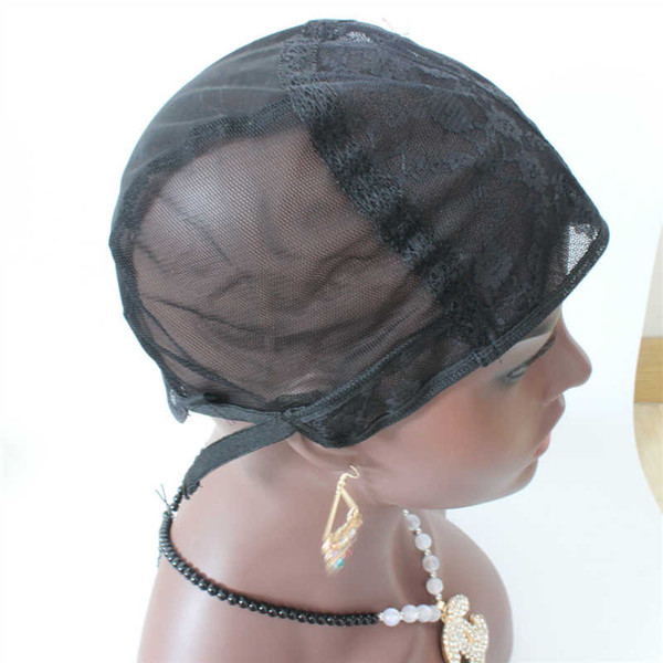 Jewish Glueless Lace Wig Cap For Making Wigs With Adjustable Straps Weaving Caps For Women Hair Net & Hairnets Easycap