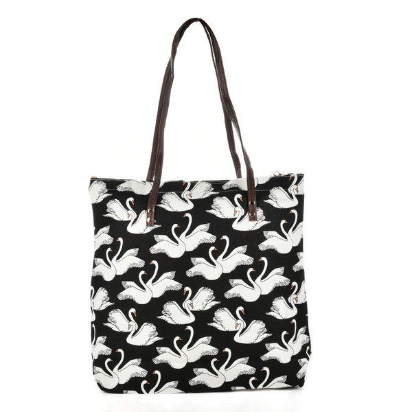 New Floral Beach Bag Light Cute Canvas Zipper Candy Woman Handbag Ladies Fruit Dot Shopping Bag Casual Totes Shoulder Bags Tote QQ2162