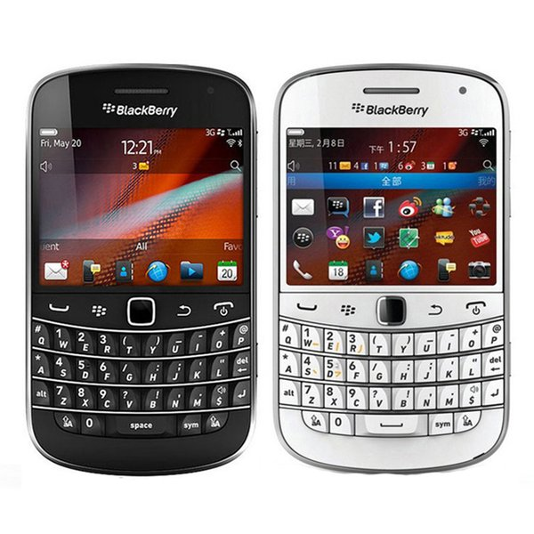 Refurbished Original Blackberry Bold 9900 3G Mobile Phone 2.8 inch 8GB ROM 5MP Camera WIFI GPS Touch Screen + QWERTY Phone Free Post 1pcs