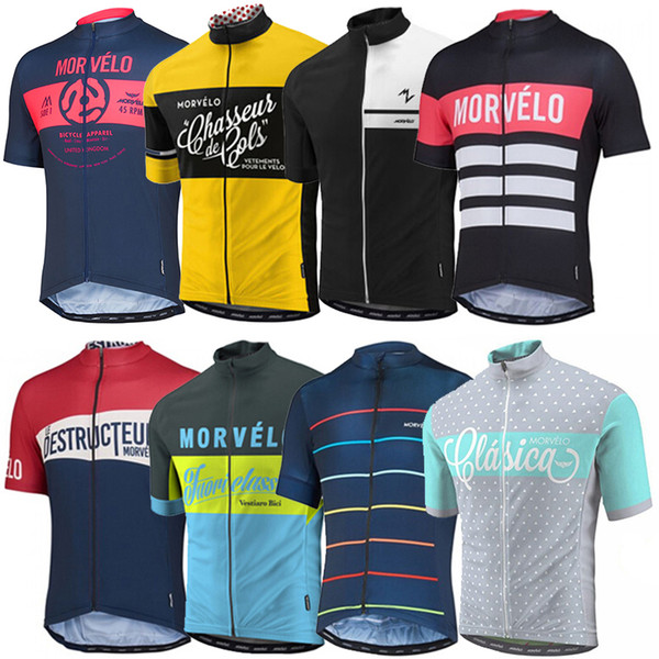 Catazer Morvelo 2017 Cycling Jerseys Short Sleeves Cycling Tops Summer Style For Men Women Bike Wear Size XS-4XL Bicycle Clothing 14 Colors