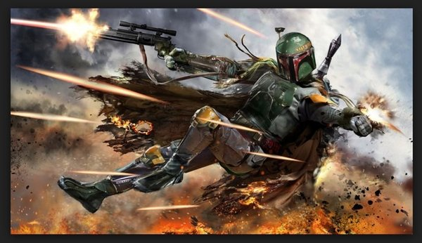 HD Print Home Wall Decor Art painting Boba Fett badass,On High Quality Canvas Home Wall Decor in custom sizes
