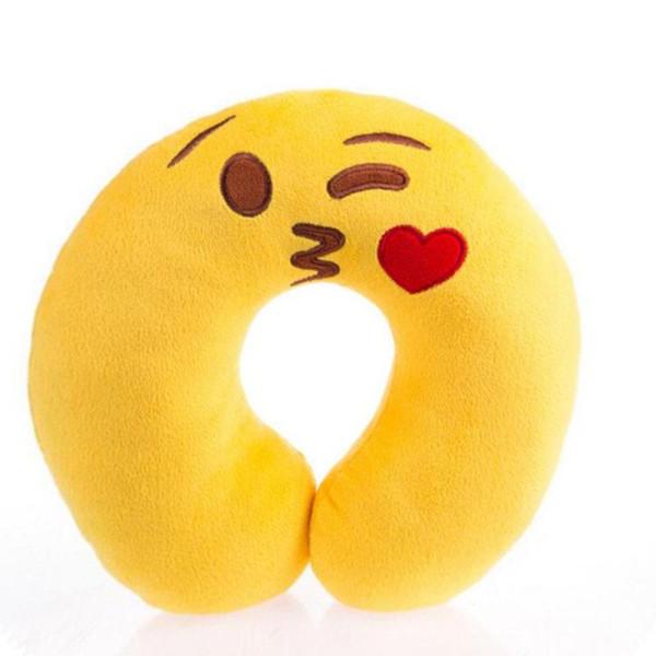 Comfortable Cute Emoji U Shape Pillow Neck Travel Pillow Rest Cushion for Adult Children Sleeping Easy-Taking Cartoon Pillows 45