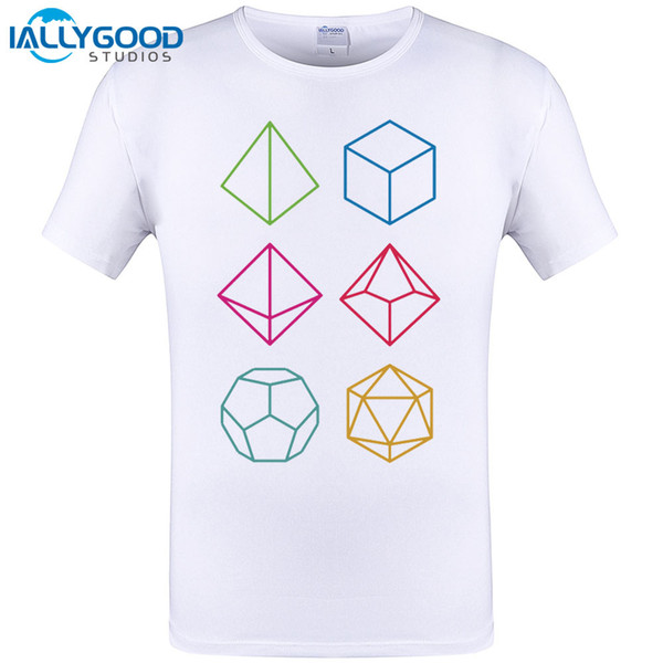 Roll - Dungeons & Dragons Line Art Series 2017 Summer Newest Cool Geometric Print Tops Tee O-Neck T Shirt Novelty Casual T-Shirt