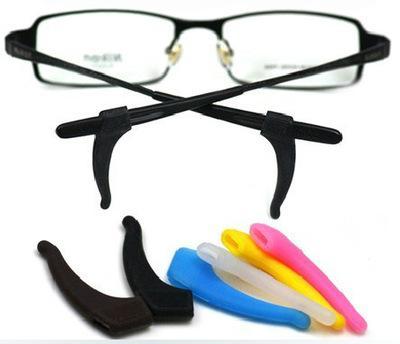 Silicone Anti-Slip Holder Para Óculos - Gancho De Aderência Removível para Óculos - Temple Tip