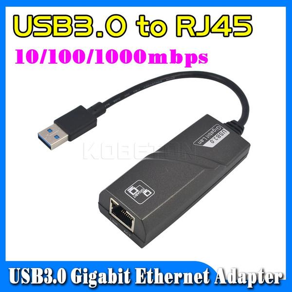 All'ingrosso - Adattatore USB Gigabit Ethernet 3.0 ad alta velocità da USB3.0 a RJ45 Adattatore LAN scheda di rete esterna 10/100 / 1000Mbps per Windows per Mac