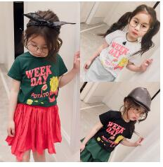 In the summer of 2017 with new children han edition of chips design children's wear short-sleeved t-shirts The boy render unlined upper garm