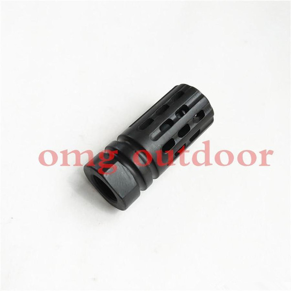 top popular wholesale Steel 1 2-28 Thread .223 .308Competition Muzzle Brake 2019