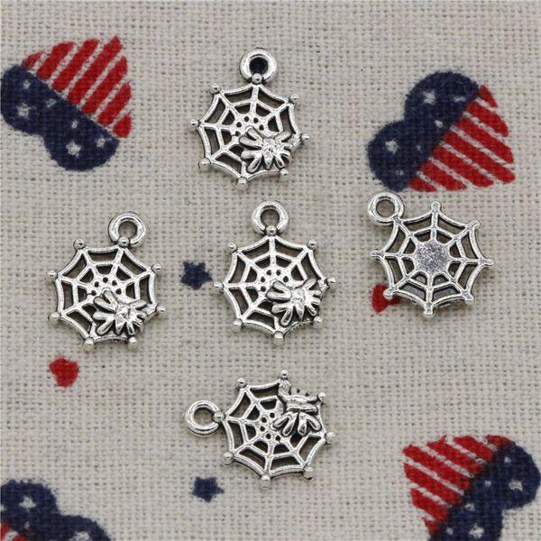 Wholesale- 289pcs Charms spider cobweb 17*14mm Pendant, Tibetan Silver Pendant, For DIY Necklace & Bracelets Jewelry Accessories