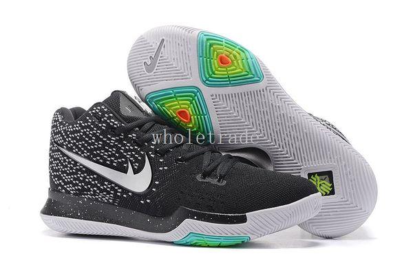 los angeles 1da3d 38e4f ... czech free shipping mens kyrie 3 black icesamurai hyper cobalt  basketball shoes kyries 3 . 77a14