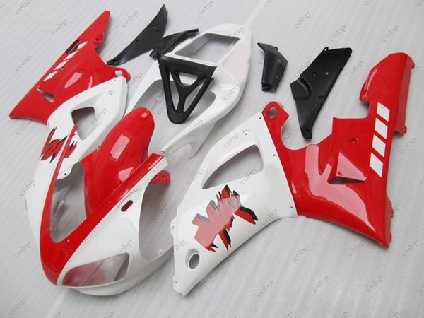 Bodywork YZF1000 R1 1998 Body Kits YZFR1 98 Red White Plastic Fairings for YAMAHA YZFR1 1999 1998 - 1999