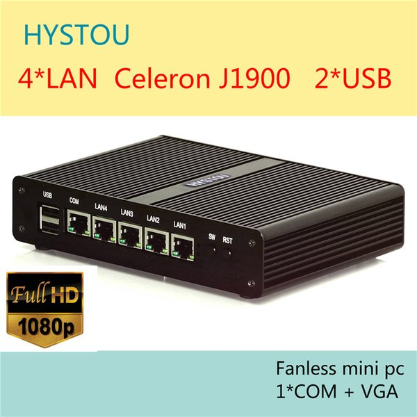 Fanless Mini PC Four Lan Quad Core J1900 Max 2 42GHz Memory MSATA Low Power  12V As Router Virtual Machine Pc Parts Pc S From Hystou168, $277 74|