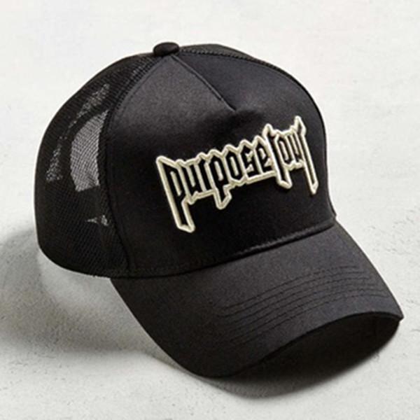 Wholesale- Purpose Tour Embroidered Baseball Cap Vintage Retro Justin Bieber Hat High Street Dark Tide Caps For Women And Men