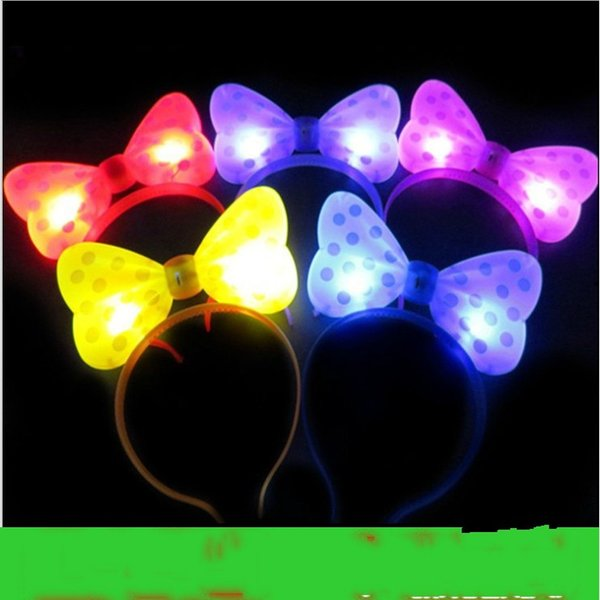 New Arrival Christmas LED Butterfly Knot Hair Clip Pins Headbands Light Up Prom Dress Up Rave Toy for Halloween Xmas Party Supplies