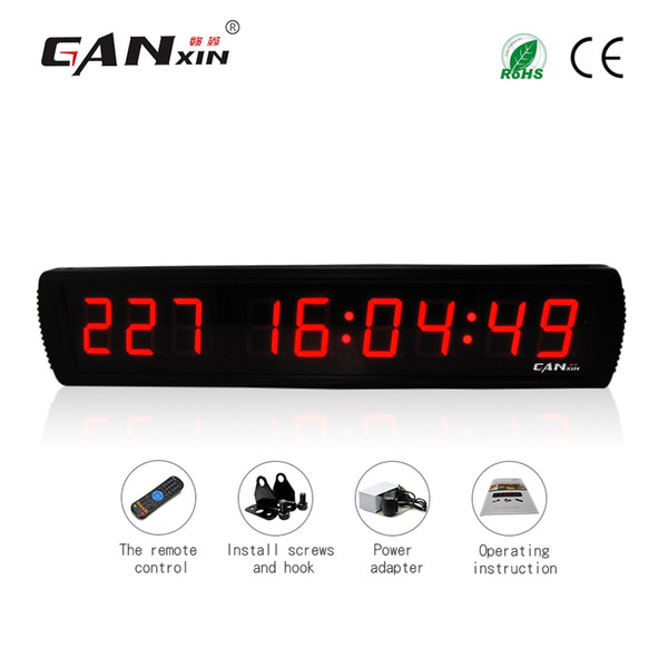 [GANXIN]3 inch 9 Digits LED Display Digital Calendar Day Countdown with 999 Days Timer Wall Clock with Remote Control