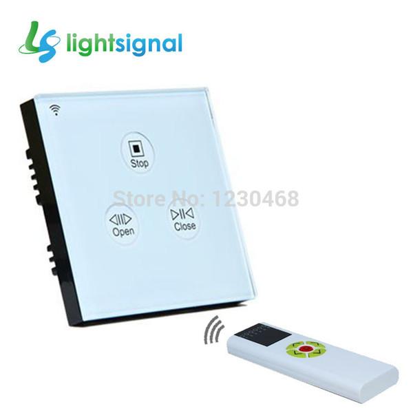 Interrupteur de rideau en gros-électrique avec panneau de verre à écran tactile et télécommande