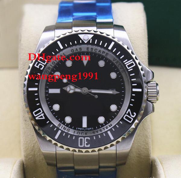 Herrenuhr hoher Qualität 44MM 116619 schwarzes Zifferblatt Kalender Saphirglas Edelstahl Armband Herren Automatikuhren