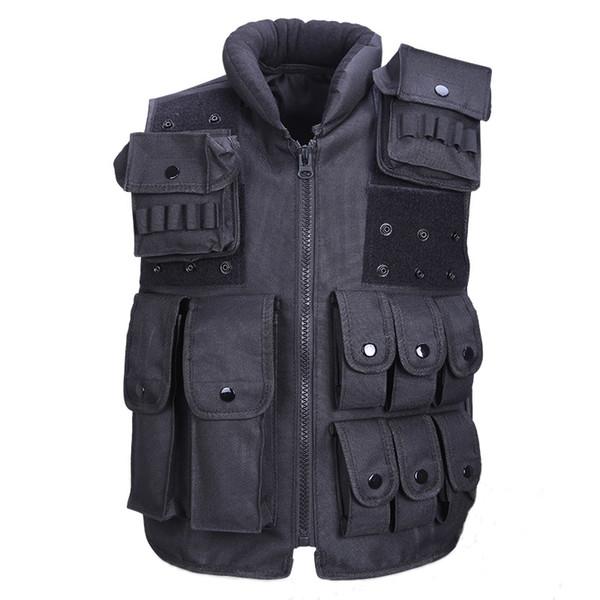 Chaleco táctico fresco chaleco de caza para hombre entrenamiento al aire libre ejército militar Swat chalecos hombres chaleco protector bolsa de la revista negro