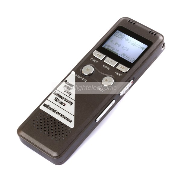 Wholesale-2014 Newest Steel 8GB Digital Voice Recorder 350Hr standby Dictaphone with MP3 Player Good for Recording telephone conversations
