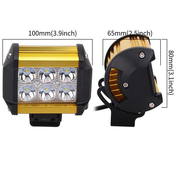 5 colors Car LED Work Light Offroad Lights cree 18W Led work light Driving Lamp Sportlight for 12v 24v Vehicle SUV ATV