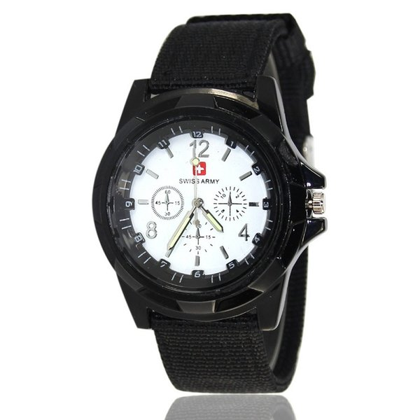 Fashion mens nylon Military watch Sports Swiss ARMY Watches casual men quartz wrist watches cool style Analog wristwatch