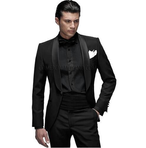 design unico alta moda 100% qualità Acquista Completo Da Uomo Classico Abito Da Sposo Nero Completo Da ...