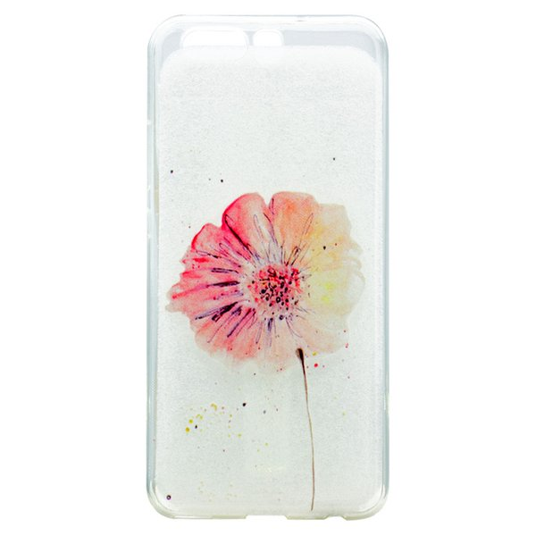 Transparent TPU Cover For Huawei Ascend P10 Case Fashion colour decoration Tower bike Butterfly Girl Feather Design Case For Huawei P10