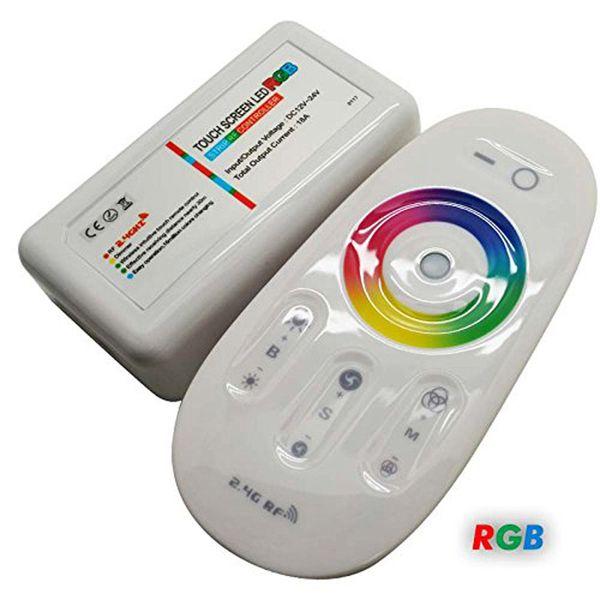 DC12-24A 18A RGB RGBW a mené la télécommande RF de l'écran tactile du contrôleur 2.4G pour la bande menée / ampoule / downlight
