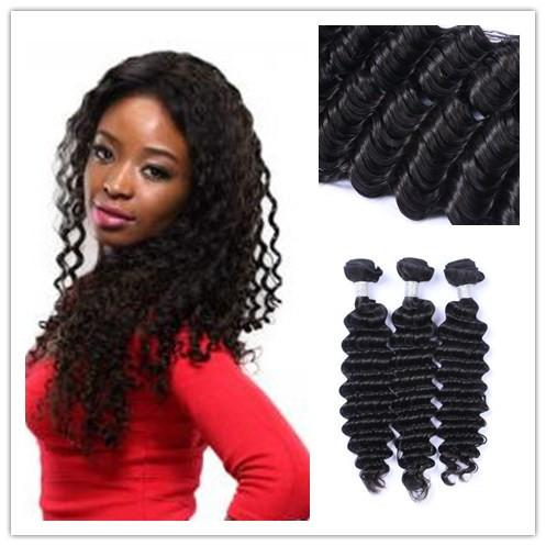 8A Hair Wholesale Price Top Quality Best Selling Virgin Brazilian Black Deep Wave 100% Human Hair Remy Hair Extension 100G Per Piece
