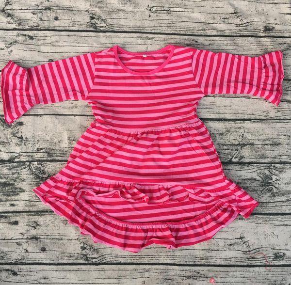 kids high low dress Wholesale Children's Boutique Clothing Girls' Cotton long sleeve tunic