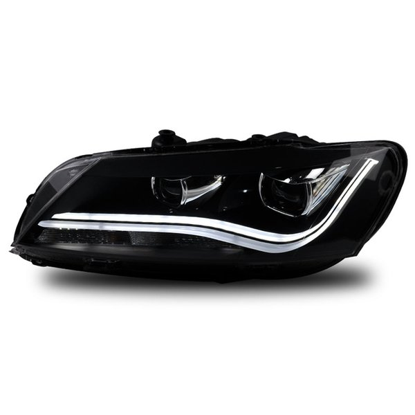 FOR Longding dedicated to 11-14 Passat xenon headlamps bifocal lens LED headlight assembly