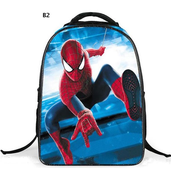 New Spider Man Backpack Boys Girls School Bags Spiderman Bag For Teenagers Student Birthday Gifts 1pcs free ship