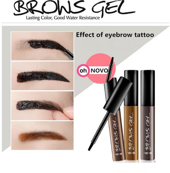 Eye Brow 50pcs Tattoo Tint Waterproof Long-lasting Peel Off Dye Eyebrow Gel Cream Mascara Make Up Pen Korean Cosmetics NOVO Eye Makeup