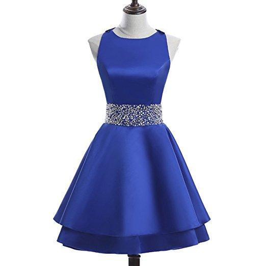 Stain Short Homecoming Dresses Crew Beading Prom Dresses Short Sequiuned Homecoming Dress for Teens Mini Cocktail Dresses