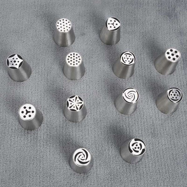 1pc Baking Nozzle Cake Cupcake Decorating Icing Piping Nozzles DIY Stainless Pastry Tips Big Sizes