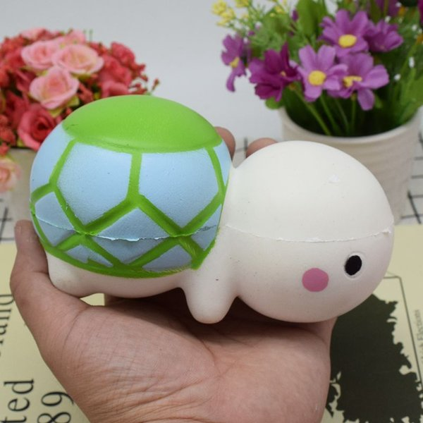 2017New 14CM Kawaii Tortoise Squishy Slow Rising Cute Phone Straps Colossal Fun Tortoise Kid Toy Squeeze Soft Relieve Charm Anxiet Gift