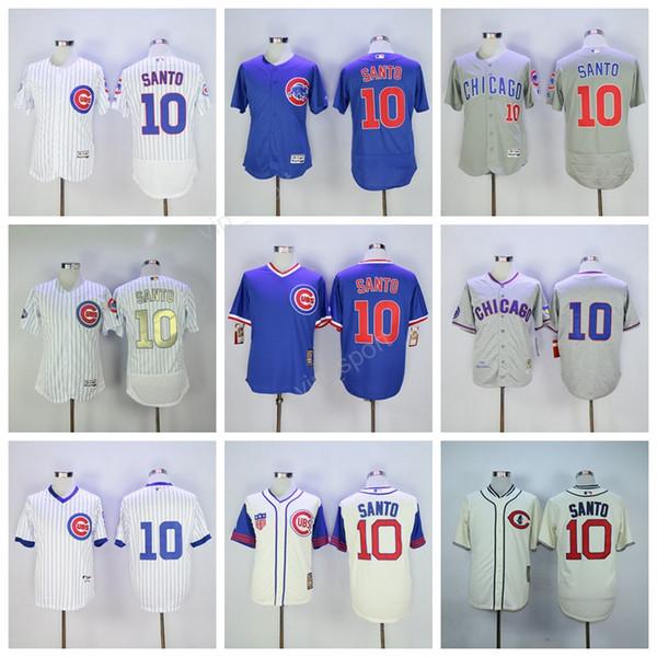 grey throwback mlb jersey mens chicago cubs chicago cubs 10 ron santo baseball jerseys 1942 cream 1969 white pinstripe 1968 hemp gray 1994