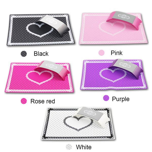 Nail Art Equipment Advanced Silicone Plastic Pillow Hand Holder Cojín de mesa Mat Pad plegable lavable Salon Manicure Tool 0603085