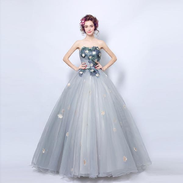 2018 Angel Dress Deep V Collar Lace Flower Princess Bride Wedding ...