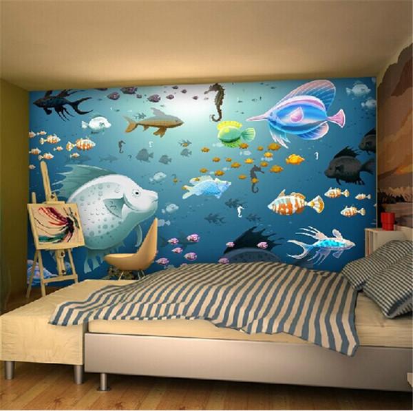 Seamless Wall Cloth Large Fresco 5d Cartoon Wallpaper Wallpaper Baby Room Kids Room Bedroom Green Background Wall Animation Wallpaper Art Wallpaper