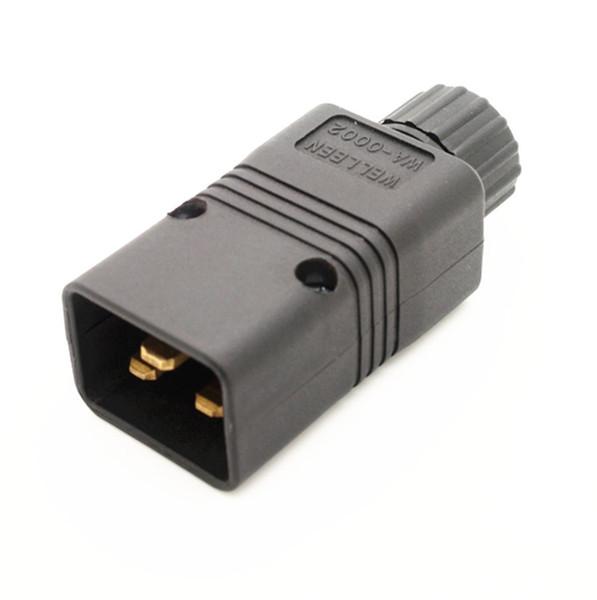 Server with IEC320-C20 plug UPS receptacle PDU power supply detachable plug 3-pin plug