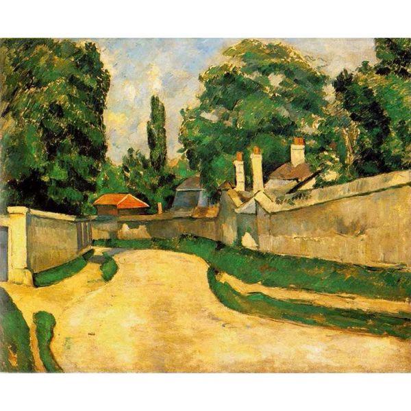 Acquista Quadri Moderni Paesaggi Case Lungo Una Strada Paul Cezanne  Riproduzione Su Tela Dipinta A Mano A $85.43 Dal Kixhome | DHgate.Com