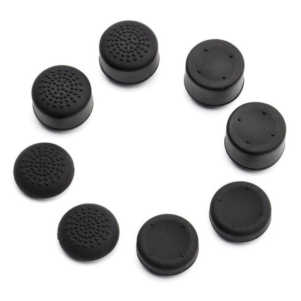 best selling 8 X soft silicone thumbstick grips thumb grips analog stick cap cover for Playstation 4 PS4 controller
