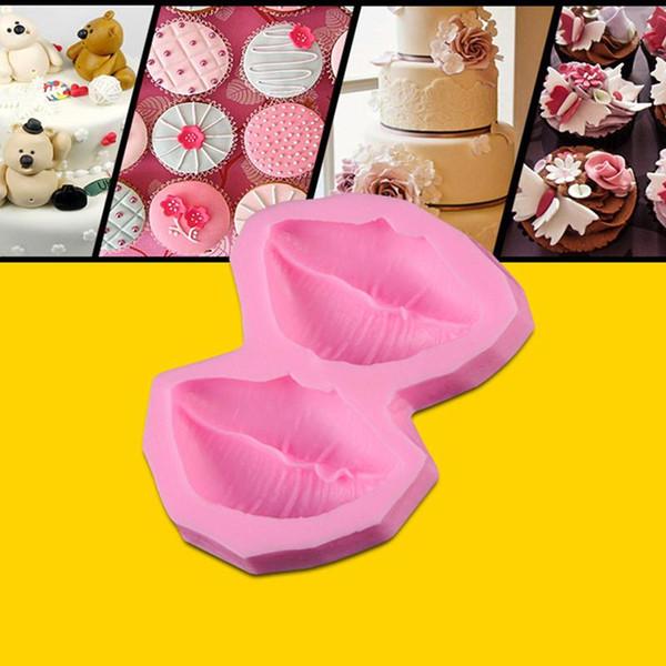 3D Labios Sexy Molde de Silicona Fondant Herramientas de decoración de Pasteles de Chocolate Herramienta de Molde Para Hornear ZH815