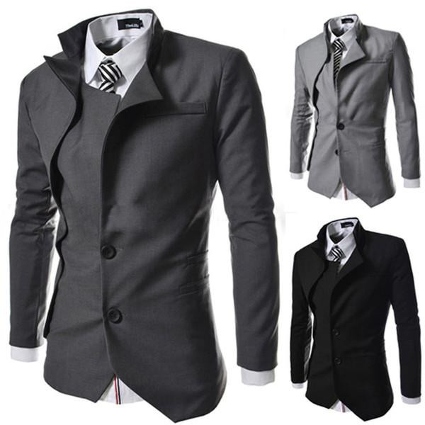 new arrival 51258 3a8ce Acquista Nuova Moda British Style Slim Fit Abiti Design Blazer Giacca  Casual Da Uomo Abbigliamento Vendita Calda A $30.46 Dal Chenshuiping | ...