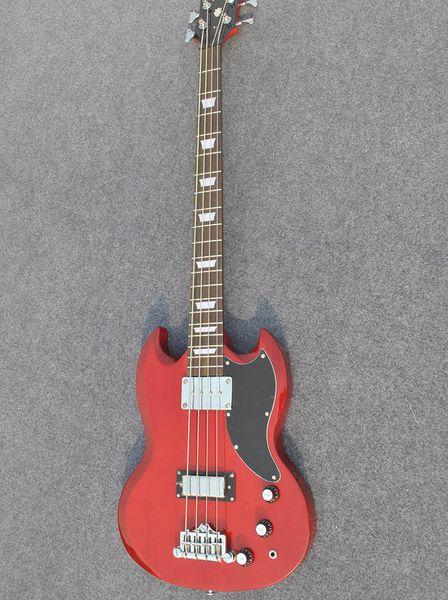 Livraison gratuite commande privée rouge guitare basse corps en acajou touche palissandre peut envoyer des photos personnalisation