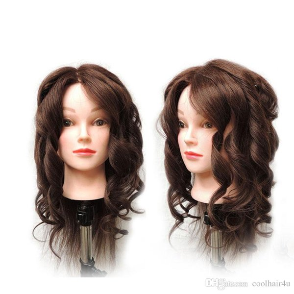 22'' Synthetic Mannequin Head Hair Salon Hairdressing Training head Mannequin Doll &Clamp Cosmetology Mannequin Head